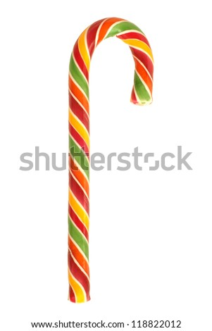 Traditional christmas candy isolated on a white background - stock photo