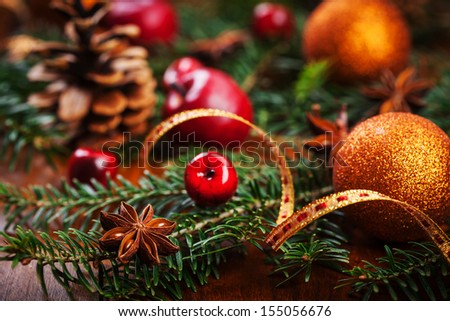 Traditional Christmas decoration - stock photo