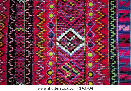 Traditional cloth from the Mam Indians (Guatemala) - stock photo