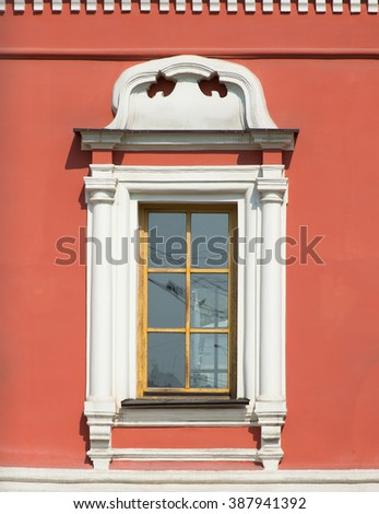 Traditional colorful chirch window