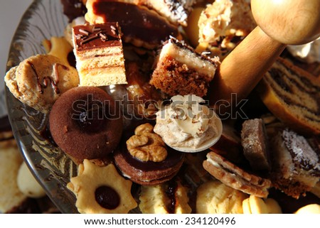 traditional czech christmas cookies - stock photo