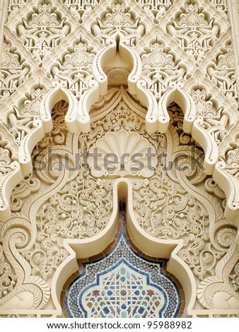 Traditional design of Moroccan architecture - stock photo