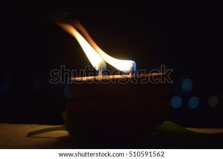 Traditional Diwali Matti Kundhulu With Fire