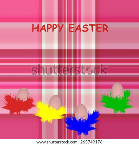 Traditional Easter eggs ,traditional colors.  Happy Easter background illustration. - stock photo