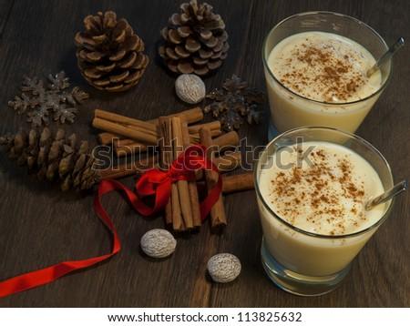 Traditional eggnog I - stock photo