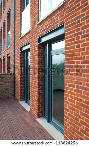 Traditional English brickwork - stock photo