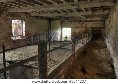 Traditional English Cowshed.