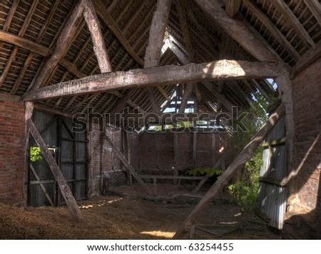 Traditional English Hay Barn Interior