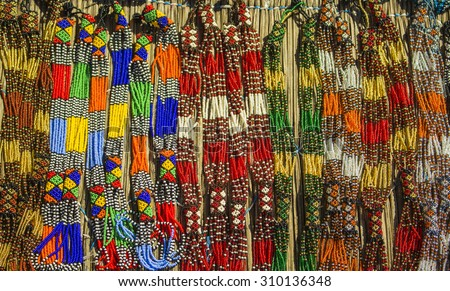 Traditional ethnic african handmade colorful beads stock for How to make african jewelry crafts