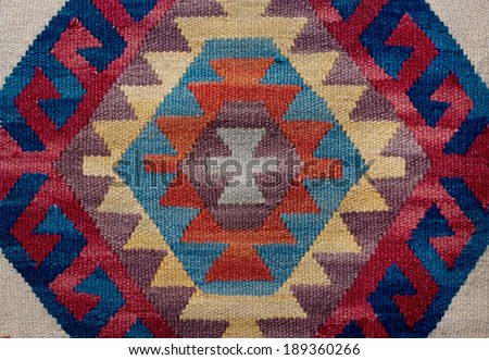 traditional ethnographic textile - stock photo