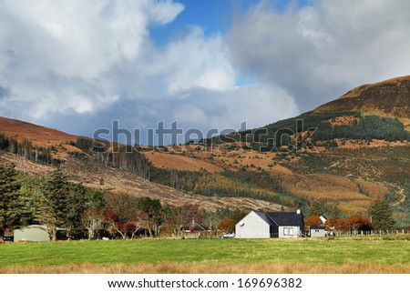 Traditional farm on the Island of Skye, Scotland, Europe - stock photo
