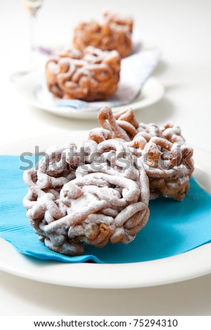 Traditional finnish May Day funnel cake, tippaleipa - stock photo