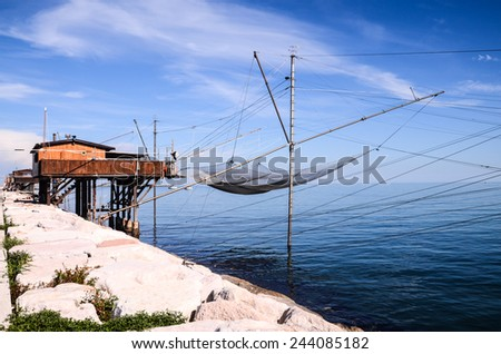 Traditional Fishing Europen House near Venice in Italy - stock photo