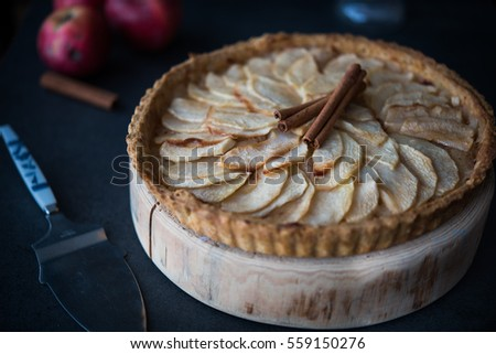 Traditional French apple tart