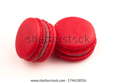 traditional french colorful macaroons dessert. With clipping pass