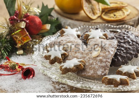 Traditional German Elisen Gingerbread at Nuremberg