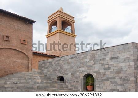 Traditional granite building - stock photo