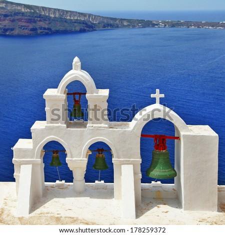 traditional Greece series. Santorini - stock photo
