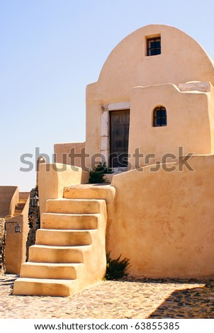Traditional greek architecture on Santorini island, Greece - stock photo