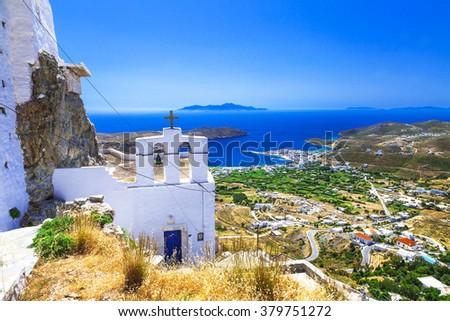 Traditional greek islands - Serifos. Cyclades - stock photo