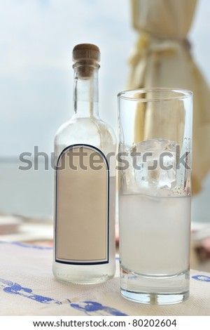 Traditional Greek ouzo
