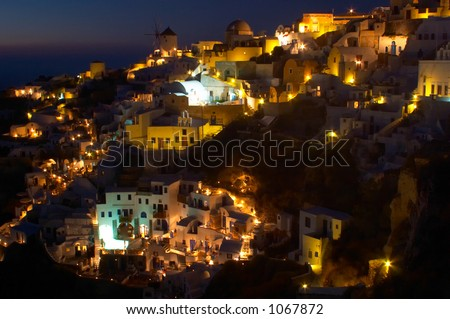 Traditional greek village, Oia, Santorini 4 - stock photo
