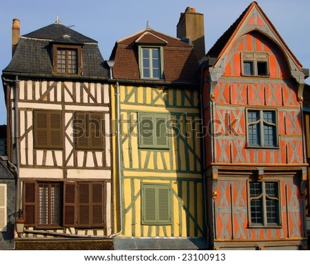 Traditional half-timbered house, Auxerre, France