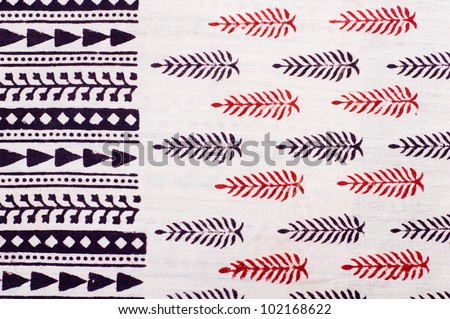 Traditional hand made block printing from Jaipur, India