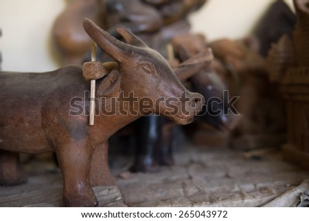 Traditional handicraft in Ninh Thuan vietnam - Bau Truc ceramic product -  the oldest pottery village in Southeast Asia - stock photo