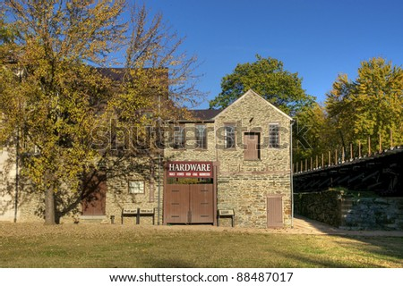Traditional Hardware Store in Harpers Ferry West Virginia - stock photo