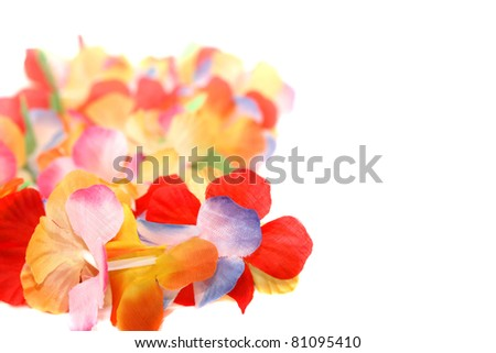 Traditional Hawaiian floral necklace - stock photo