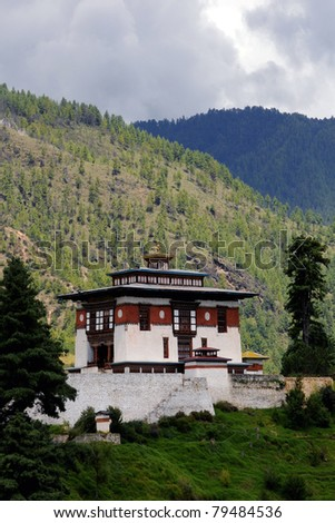 Traditional House in Bhutan