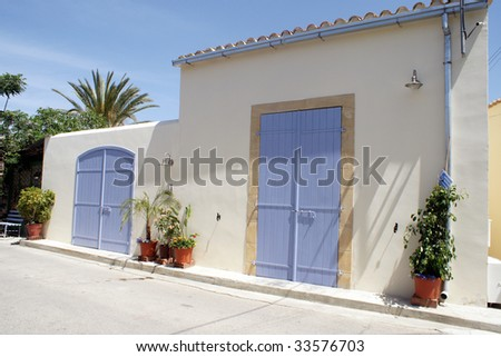 Traditional house in Nicosia - Cyprus - stock photo