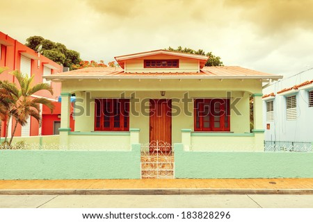 Traditional house in South America - stock photo