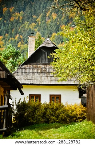 Traditional house in the mountains. Slovakia. Europe. - stock photo