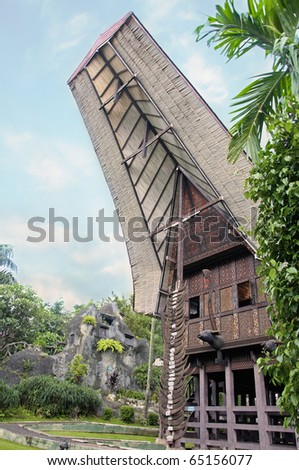 Traditional house of south Sulawesi - stock photo