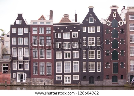Traditional houses of Amsterdam, The Netherlands