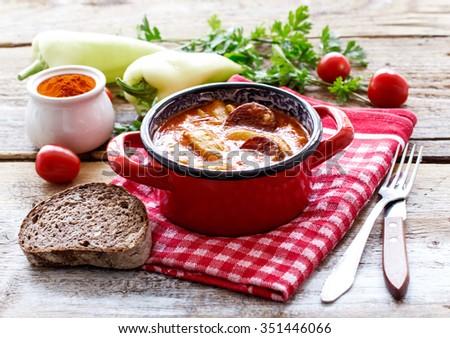 Traditional hungarian potato stew - stock photo