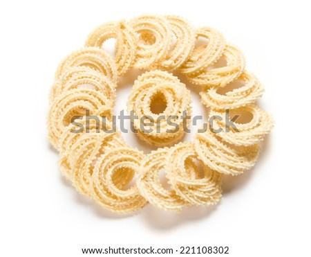 Traditional Indian Diwali snacks Chakali