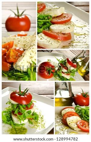 Traditional Italian appetizer, caprese salad - stock photo