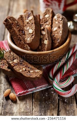 traditional Italian cookies - stock photo