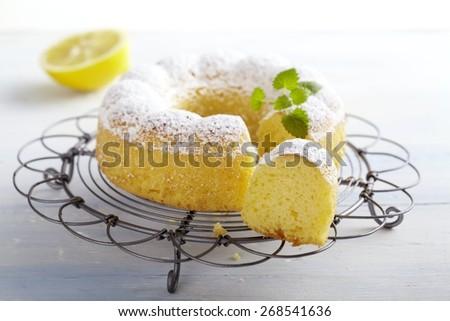 Traditional Italian Lemon Cake from Apulia - stock photo