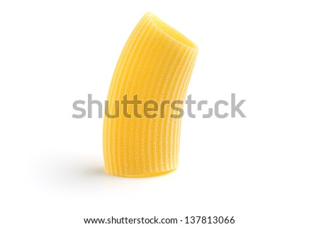 traditional italian pasta isolated on white background - stock photo