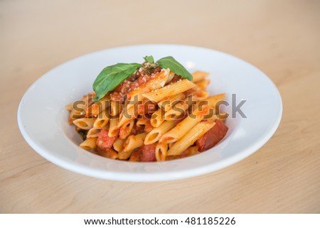 Traditional Italian Pasta on clean background