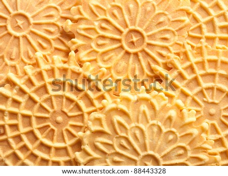 Traditional Italian pizzelle holiday cookies - stock photo