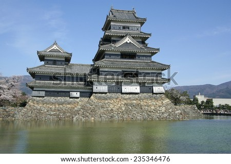 Traditional Japanese castle in Matsumoto, Japan.