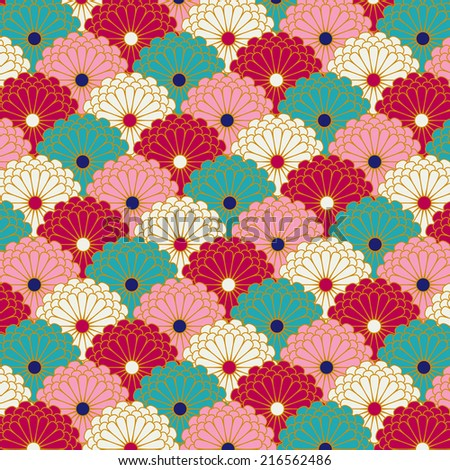 Traditional japanese patterns vector