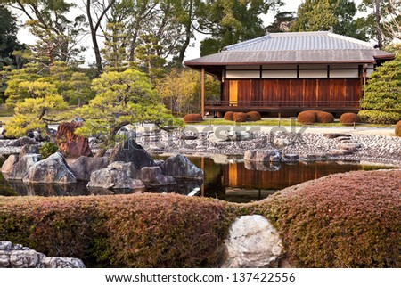 Traditional Japanese house in Kyoto, Japan - stock photo