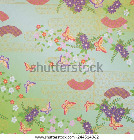 Traditional japanese pattern wrapper paper  - stock photo
