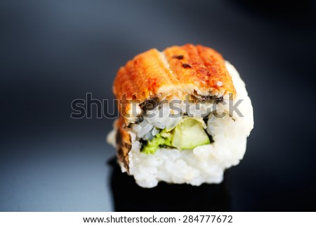 Traditional Japanese sushi roll Canada - stock photo